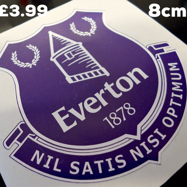Everton F.C print and cut self adhesive vinyl sticker decal wall art