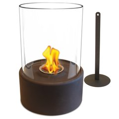 "12"" High X 8"" Diameter Brown/Glass Fireplace"