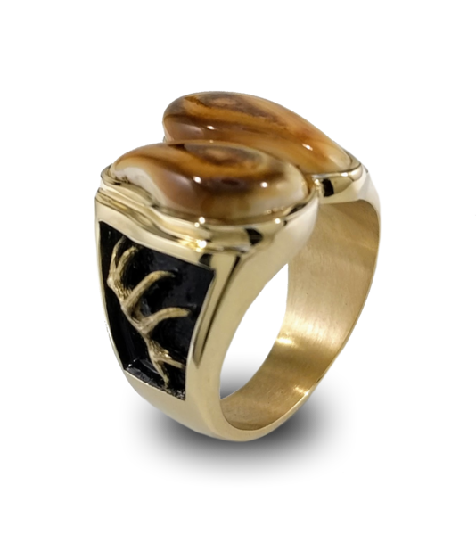 Handcrafted Elk Ivory ring customized to fit your Ivory.