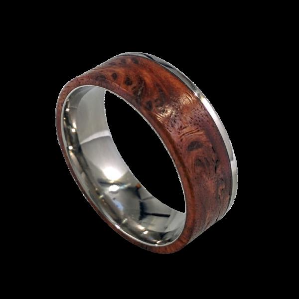 burl wood wedding band - Wood Wedding Ring