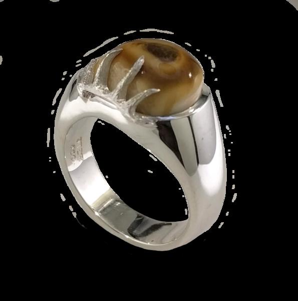 Slanted Antler Elk Ivory Ring | Elk Ivory Jewelry