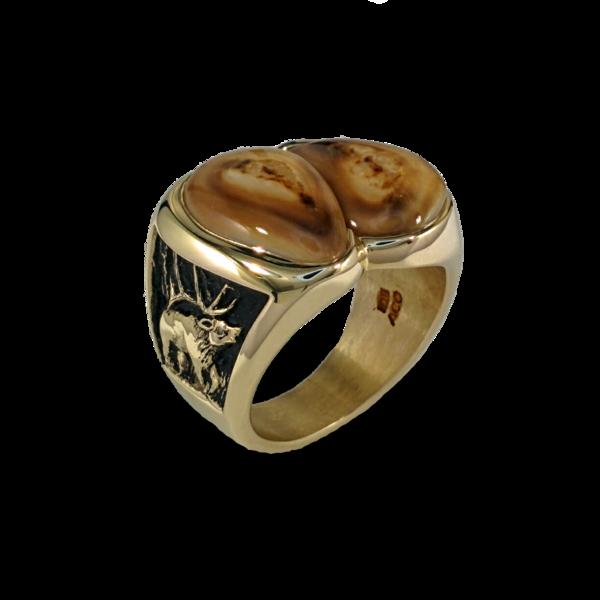 Diamond Elk Ivory Ring | Elk Ivory Jewelry