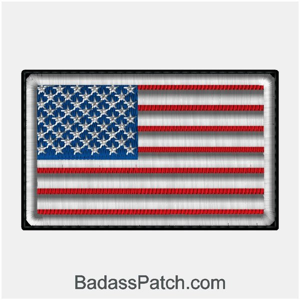 us flag american flag sew on biker vest patch | badass patch company