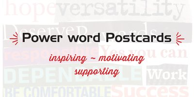 Power word Postcards