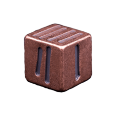 Solid Copper Dice - Tally Mark Design