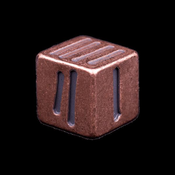 Solid Copper Dice - Tally Mark Design