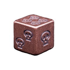 Solid Copper Dice - Skull Design