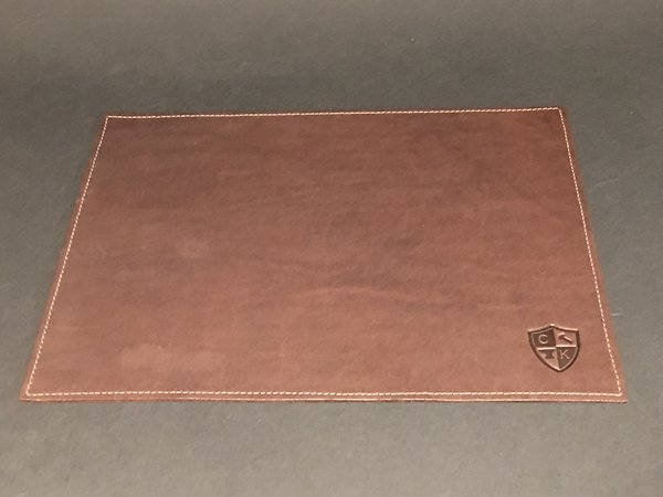 "Thick Leather Gaming Mat - Designed for Metal Dice - 9"" x 12"""