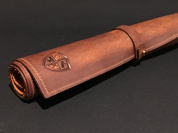 """Thick Leather Gaming Mat - Designed for Metal Dice - 12"""" x 19"""""""