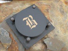 Monogrammed Slated Coaster-B