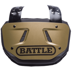 Battle Youth Football Gold Back Plate