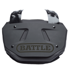 Battle Limited Edition Adult Black Football Back Plate
