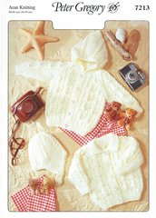 Peter Gregory 7213 baby cardigan vintage knitting pattern