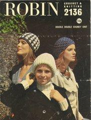 Robin 2136 ladies hats vintage crochet pattern