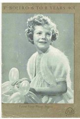 Patons 401 girl bolero vintage knitting pattern