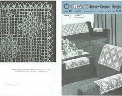 Coats 921 chair backs vintage crochet pattern