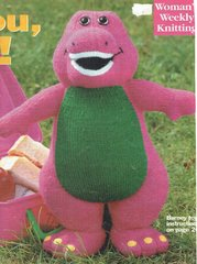 Alan Dart Barney toy and jumper knitting pattern