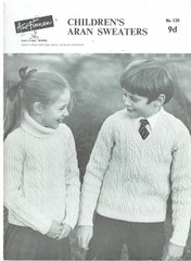 Ard Finnan childrens aran sweater jumper vintage knitting pattern