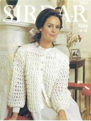 Sirdar 5510 ladies bedjacket vintage knitting pattern