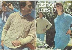 Patons Fashion Knits 12 vintage knitting pattern booklet