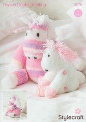 Stylecraft 9276 unicorn family toy knitting pattern