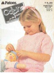 Patons 7970 oddpins children jumper vintage knitting pattern