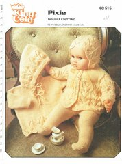 King Cole 515 dolls clothes vintage knitting pattern