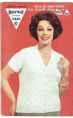 Bestway 3641 ladies cardigan vintage knitting pattern