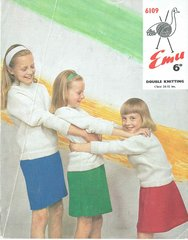 Emu 6109 childrens cardigan and jumper vintage knitting pattern