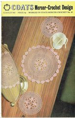 Coats 960 doily doilies table mats vintage crochet pattern