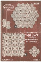 Twilleys 228 doily vintage crochet pattern