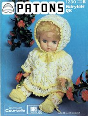 Patons 1230 dolls clothes vintage knitting pattern