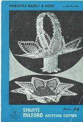 Strutts 403 pineapple design baskets vintage crochet pattern