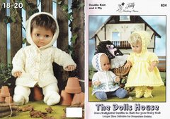 Teddy 624 dolls house clothes vintage knitting pattern booklet