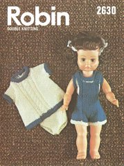 Robin 2630 dolls vintage knitting pattern
