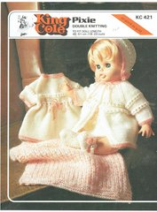 King Cole 421  dolls clothes vintage knitting pattern