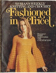 Fashioned in Tricel adult vintage knitting and crochet magazine