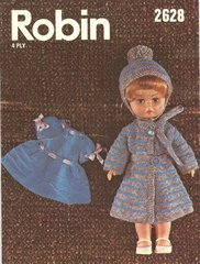 Robin 2628 dolls vintage knitting pattern
