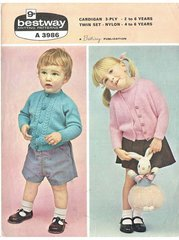 Bestway 3986 baby cardigan vintage knitting pattern