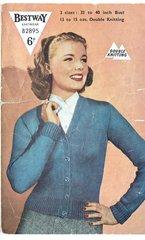 Bestway 2895 ladies cardigan vintage knitting pattern
