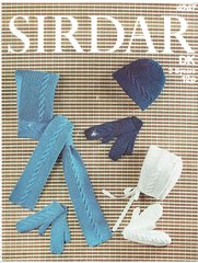Sirdar 4247 childrens hats vintage knitting pattern