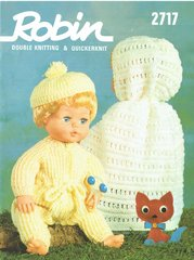 Robin 2717 dolls vintage knitting pattern