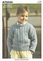 Patons 3550 boys jumper knitting pattern