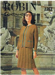 Robin 2267 ladies dress and jacket suit vintage crochet pattern