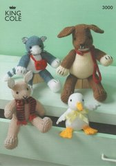 King Cole 3000 assorted toys knitting pattern