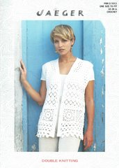 Jaeger 5311 ladies waistcoat vintage crochet pattern
