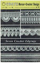 Coats 741 edgings vintage crochet pattern