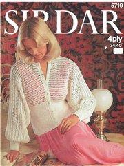 Sirdar 5719 ladies bedjacket vintage knitting pattern