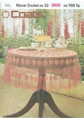 Coats 1188 tablecloth vintage crochet pattern
