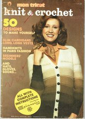 Mon Tricot MD19 vintage knitting and crochet magazine